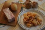 Ensalada de patata con panceta ahumada